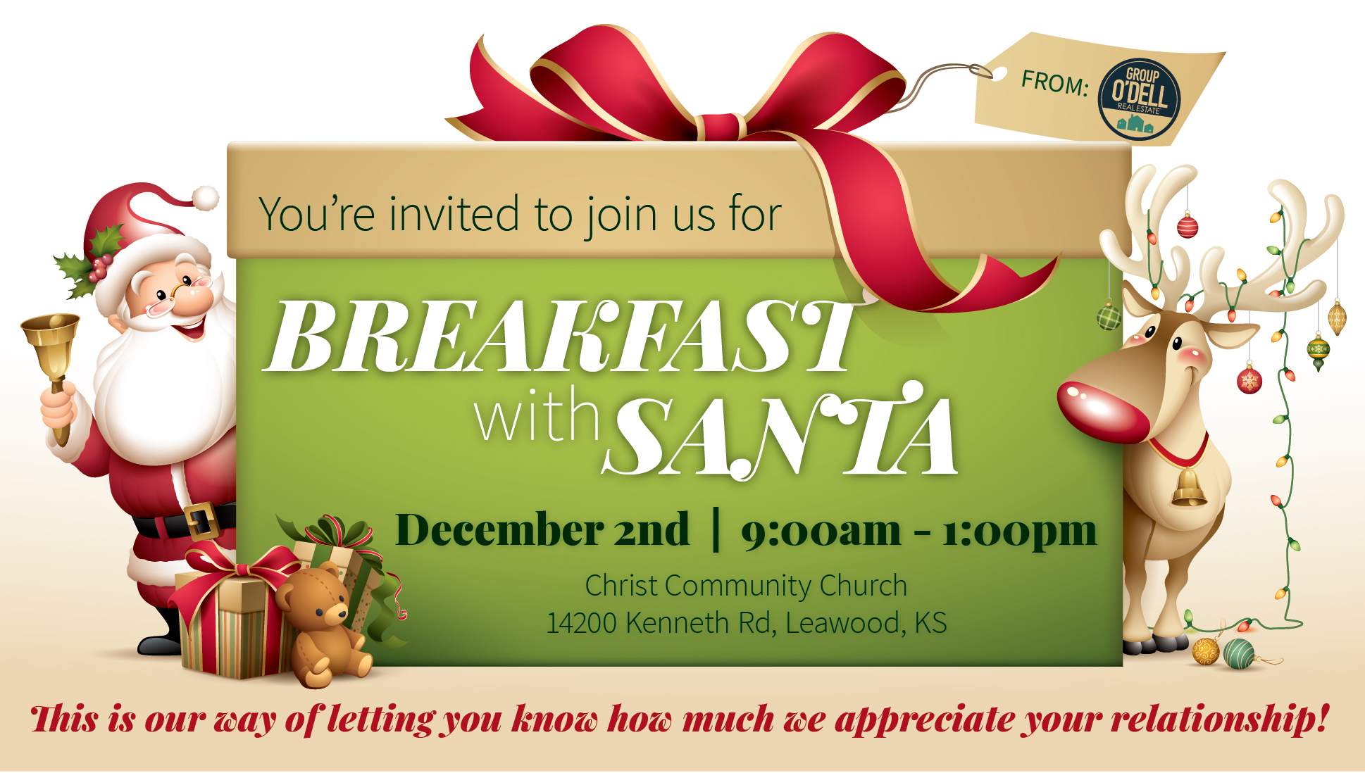 Group O'Dell's 2017 Breakfast with Santa Client Appreciation Event