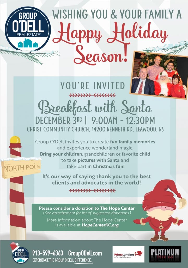 Group O'Dell's Breakfast with Santa