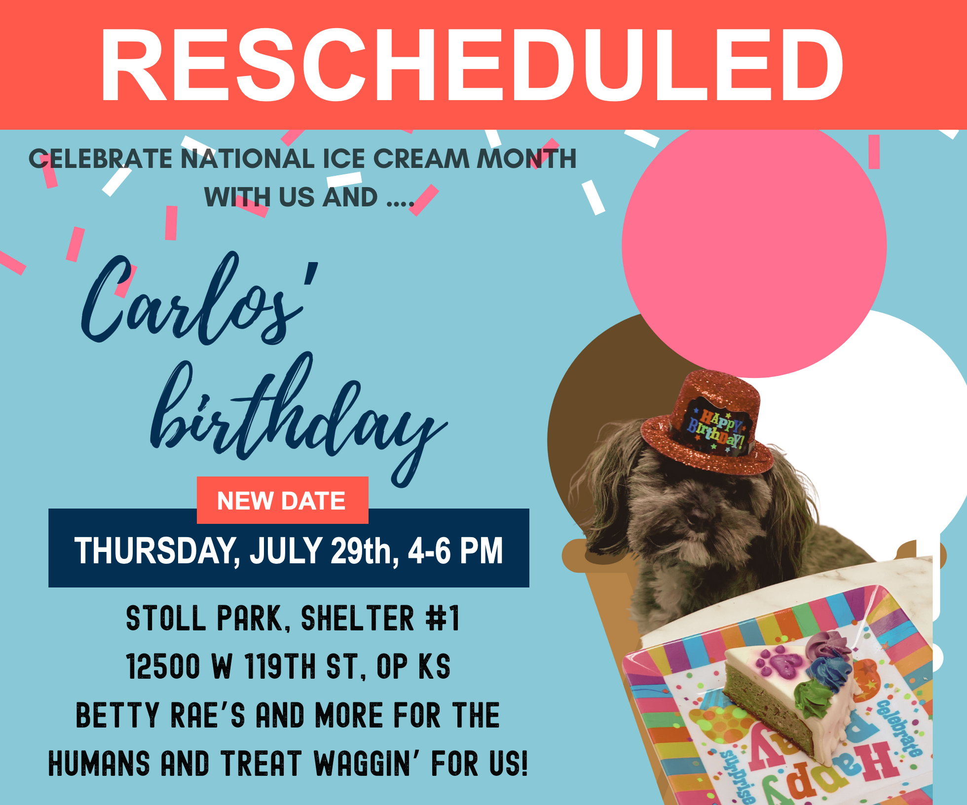 Celebrate National Ice Cream Month – AND Carlos' Birthday with Us!